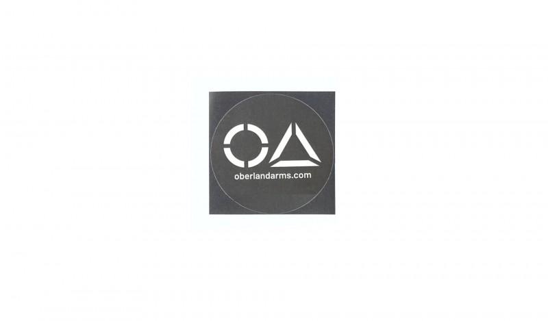 OA Aufkleber, 95mm, rund, matt, 7-Jahres Folie, schwarz-weiß