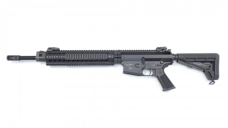 """OA-10 DMR-E, 18"""" Heavy Barrel schwarz, OA TRH 13"""" rifle length, Geissele 2-Stage Abzug, OA M4-Schaft"""
