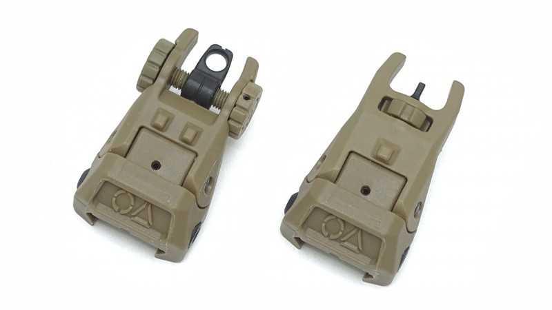 OA BUIS polymer sight set coyote