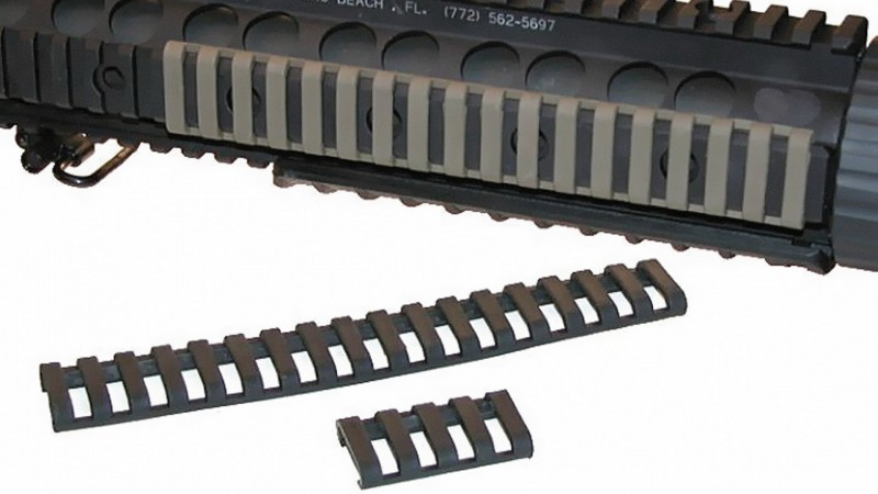 Rail Protector, kürzbar, 18-Slots, 175mm, 3 Farben